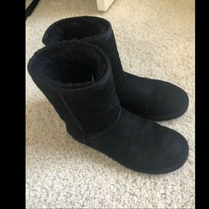 UGGs Women Black Shoes- Size 8